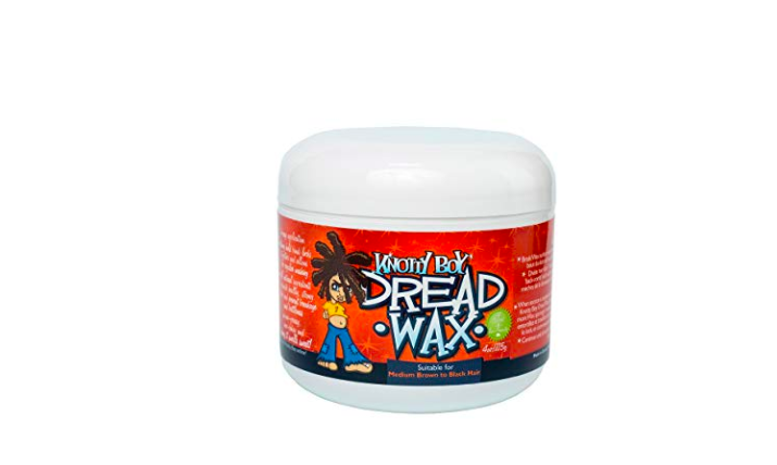 Knotty boy dreadlock wax for Caucasian hair.